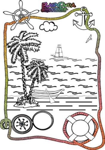 Malbild Palme