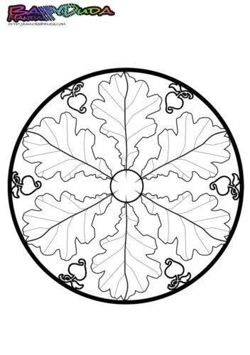 Mandala Blatt