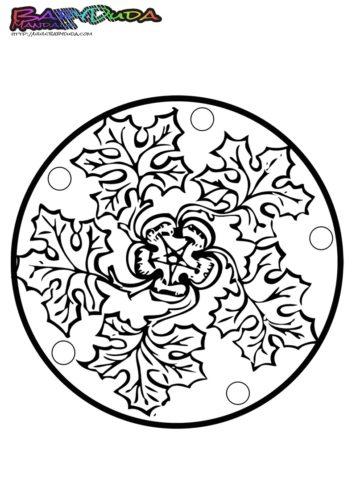 Mandala-Herbst-Blatt