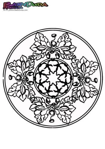 Mandala Herbst-Eichel