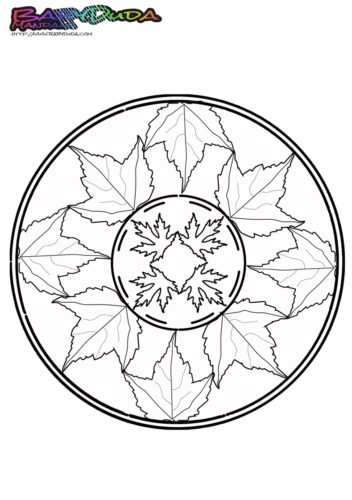 Herbst Mandala Ausmalbilder Und Malvorlagen Babyduda Malbuch