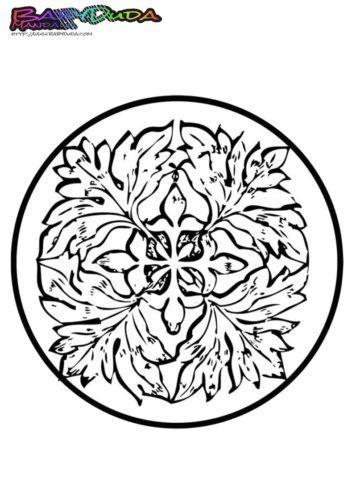 Mandala Herbstblatt