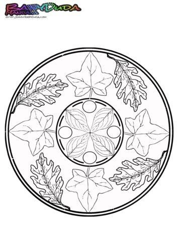 Mandala Herbstlaub
