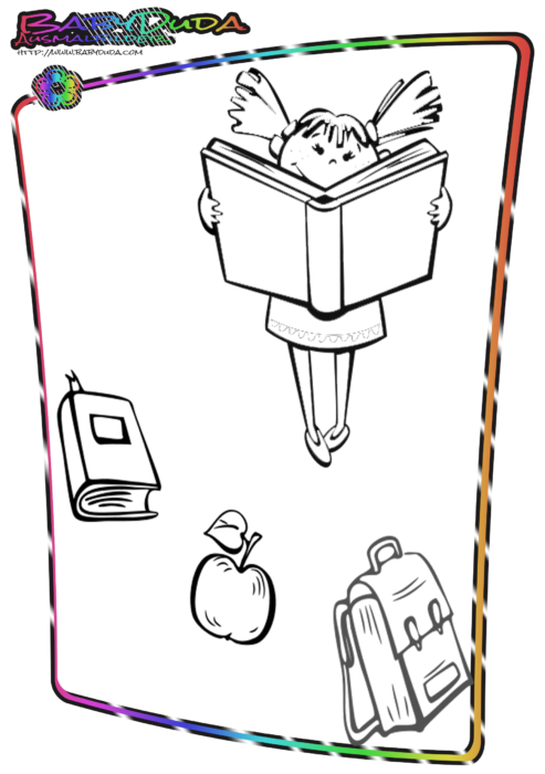 Schule-Ausmalbild-Schulkind
