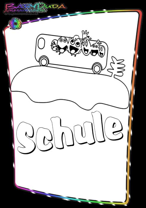 Schule-Malbild-Schule