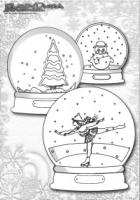 Weihnachten-Ausmalbild-Weihnachts-Malbild-Schneekugeln