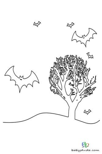 Fledermaus Ausmalen - Halloween Ausmalbilder & Walpurgisnacht Malvorlagen