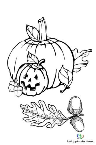 Kürbis Ausmalen - Halloween Ausmalbilder & Walpurgisnacht Malvorlagen