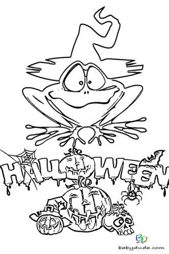 Frosch Zauber Ausmalen - Halloween Ausmalbilder & Walpurgisnacht Malvorlagen