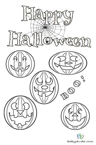 Lustige Kürbisse Ausmalen - Halloween Ausmalbilder & Walpurgisnacht Malvorlagen