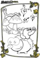 Herbst Tiere Ausmalbild Igel