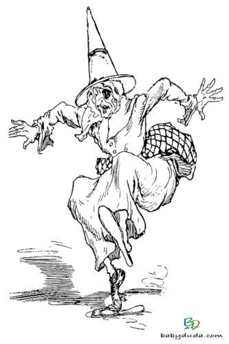 Ausmalen - Halloween Ausmalbilder & Walpurgisnacht Malvorlagen