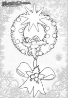 Weihnachten-Ausmalbild-Weihnachts-Malbild-Weihnachtskranz