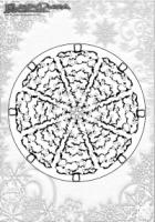 Winter Ausmalbild – Mandala Weihnachtsbaeume Ausmalbild