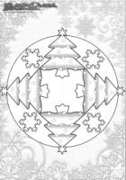 Winter Ausmalbild – Mandala Weihnachtsbaum Ausmalbild