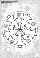 Winter Ausmalbild – Mandala Weihnachtsbaum Malbild