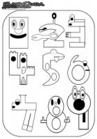 Zahlen Ausmalbild – Malvorlage 1 bis 9