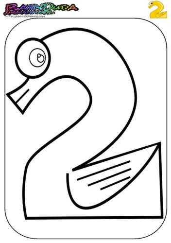 Zahlen Ausmalbild - Malvorlage 2