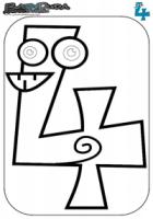 Zahlen Ausmalbild – Malvorlage 4