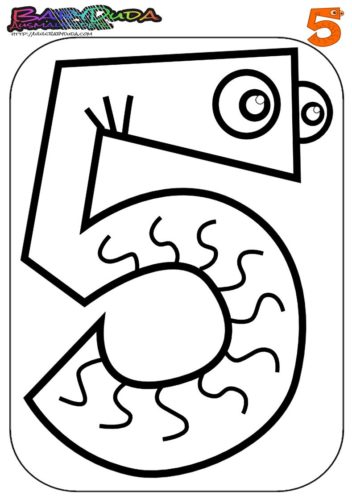 Zahlen Ausmalbild - Malvorlage 5