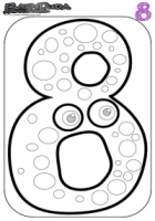 Zahlen Ausmalbild – Malvorlage 8