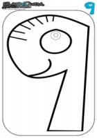 Zahlen Ausmalbild – Malvorlage 9