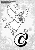 ABC Malvorlagen Winter Buchstaben – C – Christkind