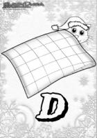 ABC Winter Buchstaben – D – Decke