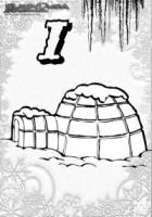 ABC Winter Buchstaben – I – Iglu