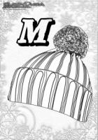 ABC Winter Buchstaben – M – Muetze
