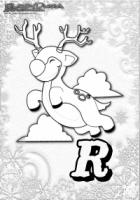 ABC Winter Buchstaben – R – Rentier Rudolf