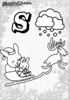 ABC Winter Buchstaben – S – Schlitten