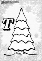 ABC Winter Buchstaben – T – Tannenbaum