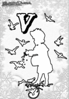 ABC Winter Buchstaben – V – Vogelfutter