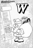 ABC Winter Buchstaben – W – Wunschzettel