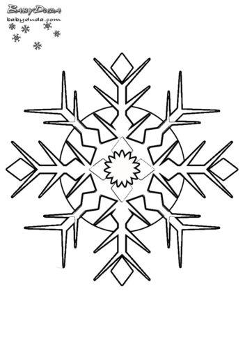 kleine schneeflocken zum ausdrucken