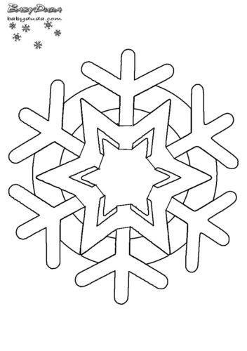 Winterbilder Mandala ❄ Schneeflocken & Weihnachtsbaum | BabyDuda ...