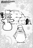 Winter Ausmalbild Pinguin