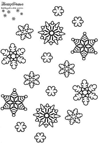 Winterbilder Mandala Schneeflocken Weihnachtsbaum Babyduda