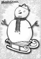 Winter Ausmalbild Schneemann