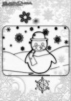 Winter Malvorlage Schneemann