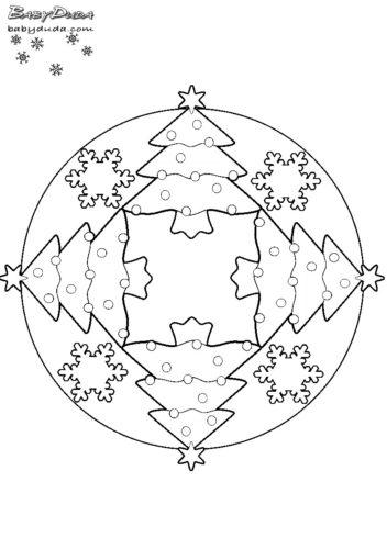 winterbilder mandala schneeflocken weihnachtsbaum. Black Bedroom Furniture Sets. Home Design Ideas