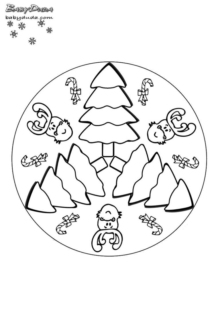 winterbilder mandala ️ schneeflocken  weihnachtsbaum