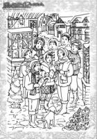 Weihnachten Malbild Weihnachtssingen Chor