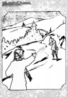 Winter Ausmalbild Schneeballschlacht
