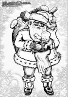 Winter Ausmalbild Weihnachtsmann