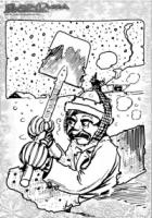 Winter Malvorlage Schneeschippen