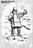 Winter Malvorlage Ski auf Eis