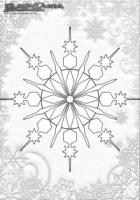 Winter Ausmalbild Schneeflocken Mandala