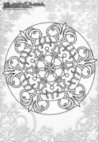 Winter Mandala Ausmalbild Schneeflocke